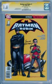 Batman And Robin #1 First Print CGC 9.8 Signature Series Signed Frank Quitely DC comic book
